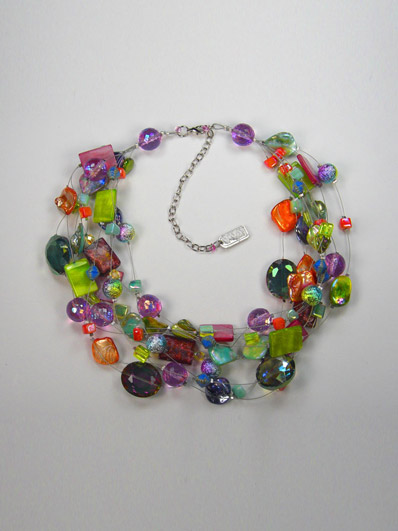 Monica's famous ten strand necklace. It comes in umpteen colours!
