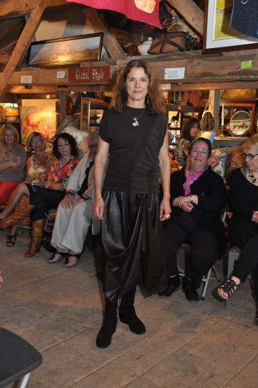 Sarah Pacini worn by Virginia Scruggs at our fashion show at the Old Barn Gallery in  Pomquet
