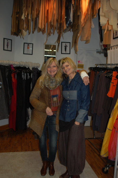 Annie Thompson and me. She's an amazing Toronto based designer whose work we will soon be carrying.