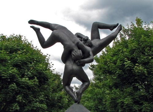 Sculpture by Gustave Vigeland at the Vigeland Park in Oslo