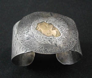 GF Cuff by Clare Bridge in silver and gold.