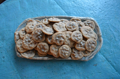 The best chocolate chip cookies (in my opinion) are moist and chewy and full of walnuts.