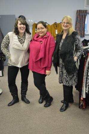 Trista, Catherine and Tina - my dressy, dressed up team.