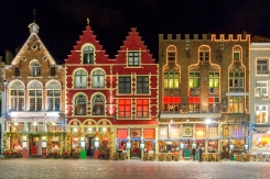 53616c7465645f5fd1af1c8460b35f70 389804668 Shutterstock Christmas decoration and lighting Old Market Square in the historic center of Bruges, Belgium.
