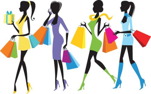 Fashion-Shopping-Girls-Illustration 1